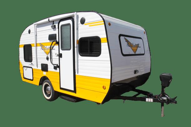 A modern Retro travel trailer
