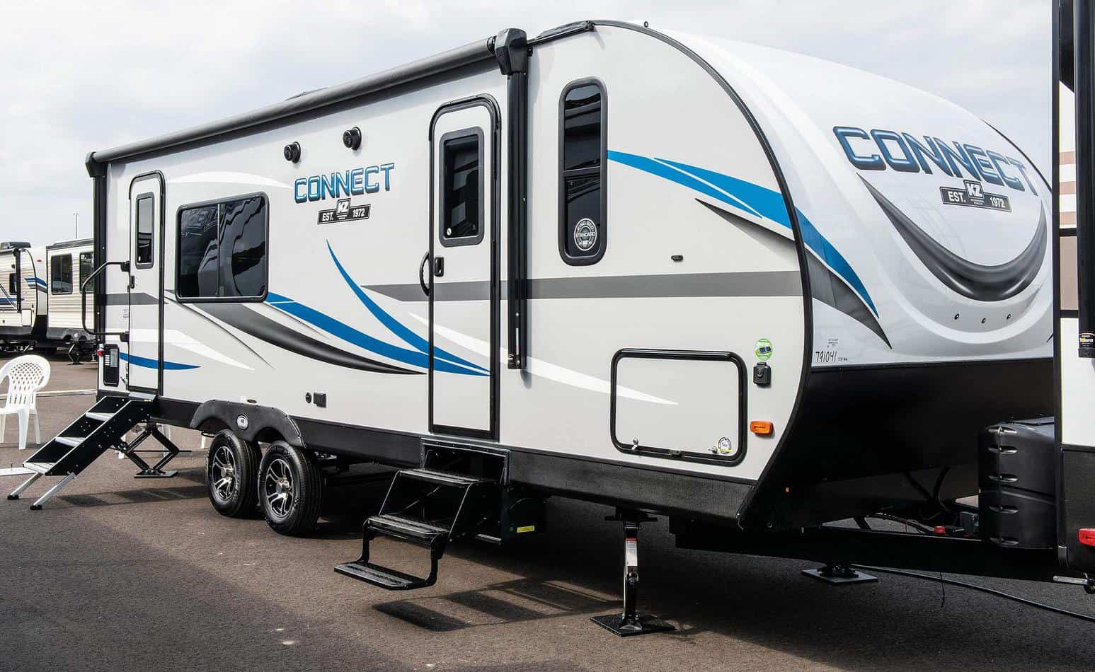 The 2020 KZ Connect offers an RV office area - Photo: KZ