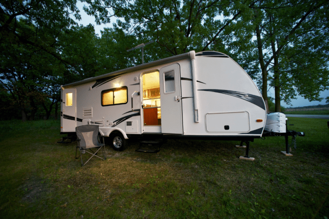 average price of a new travel trailer