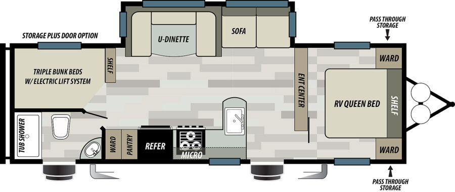 Floor plan of the EVO T2700 RV