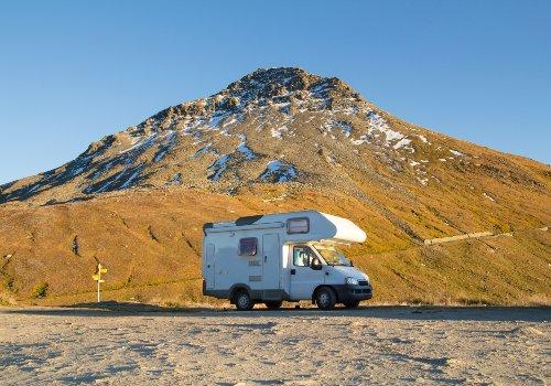 Thor RV in a mountainous area