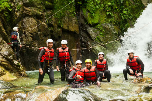 Authentic canyoning expedition
