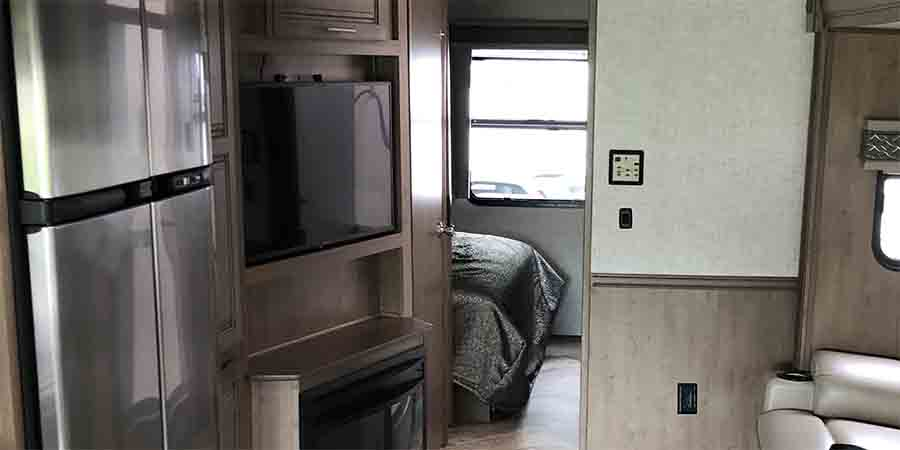 TV on display in an RV