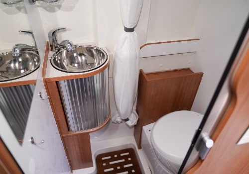 Campers bathroom in the modern van