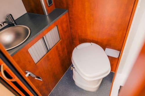 Camper RV Toilet Bathroom