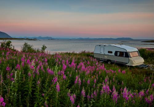 Camper stays in national park