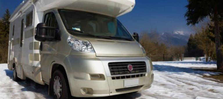 Camper Van in the Winter