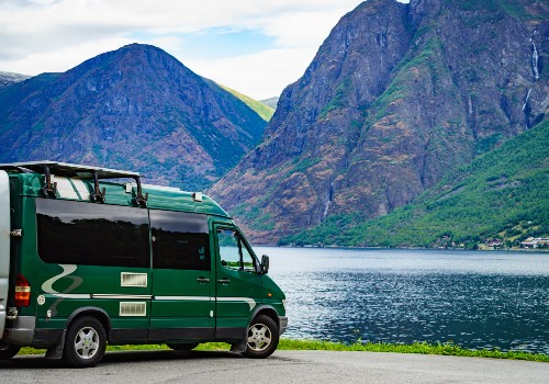 Camper-van in US national park