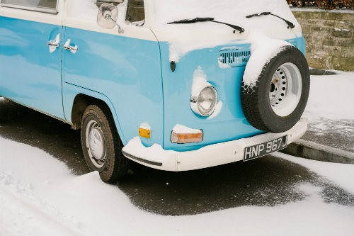 Camper in winter