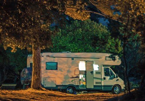 Camping at night