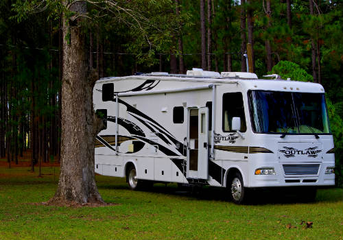 Class A motorhome leveling