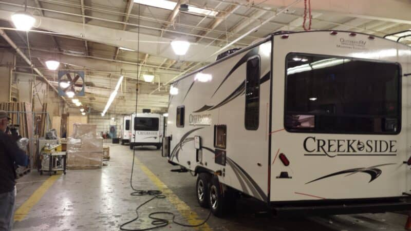 RV Construction in factory