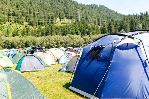 Finding right land for tents