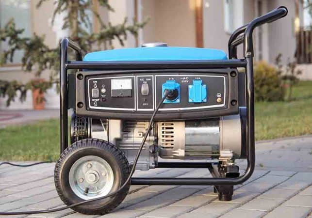 Portable electric generator for RV
