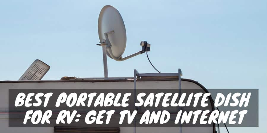Portable satellite dish for RV