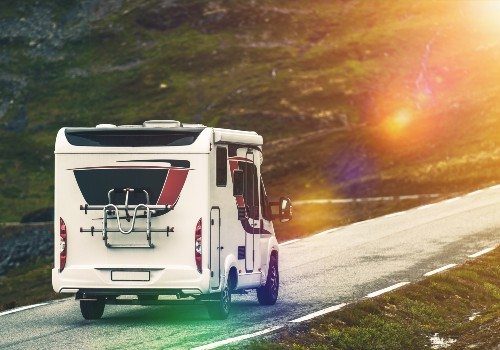 RV camper traveling