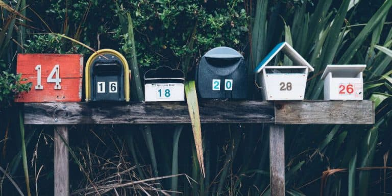 RV mail; mailboxes in a new place far from home