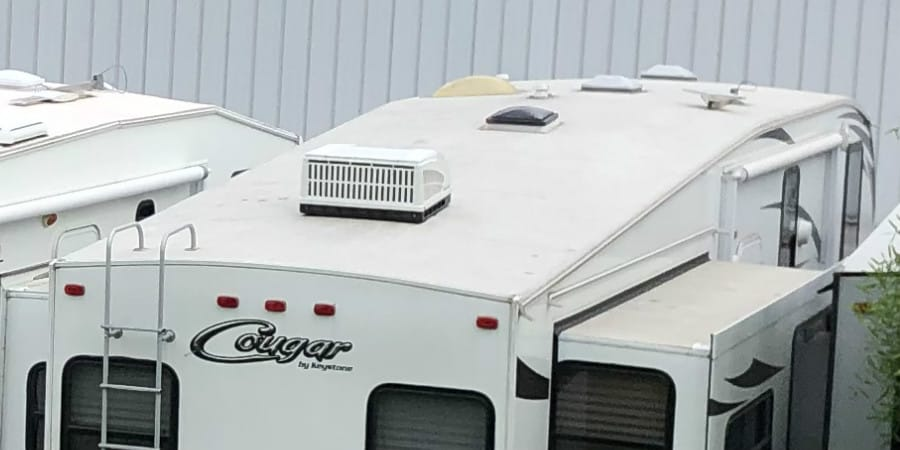 RV roof coatings and sealants
