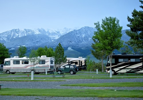 RVs in a national park
