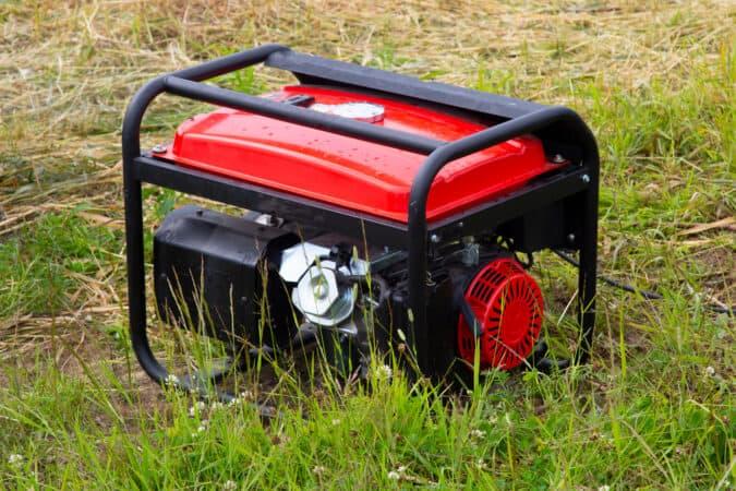red portable RV generator