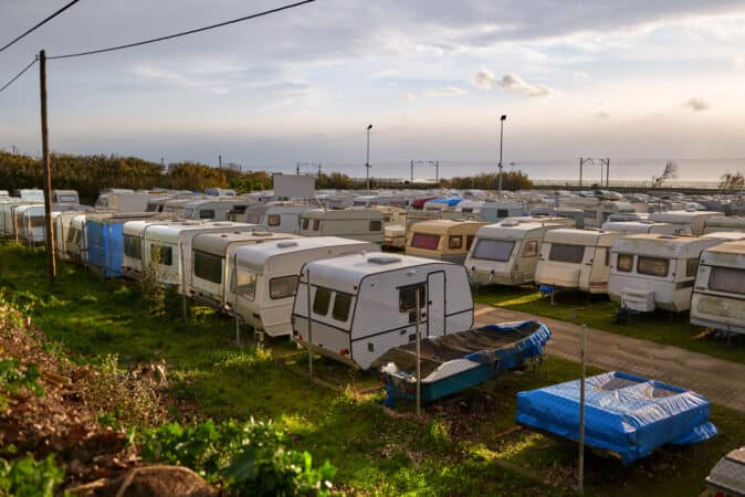 Lot of used RVs for sale
