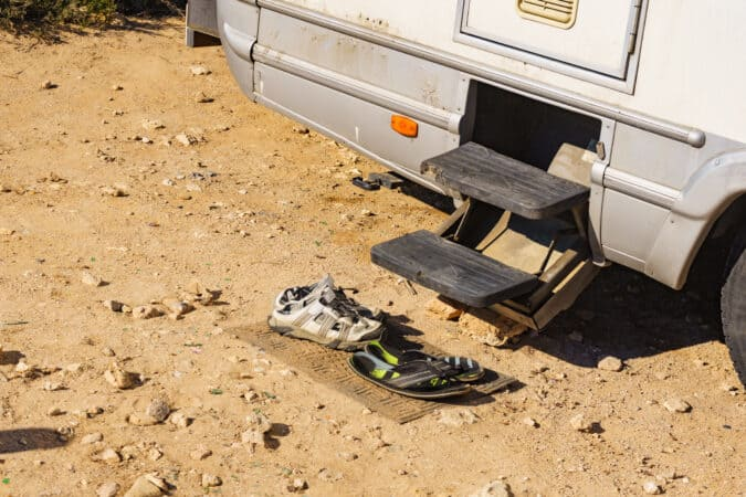 Grab your old shoes before starting an RV oil change