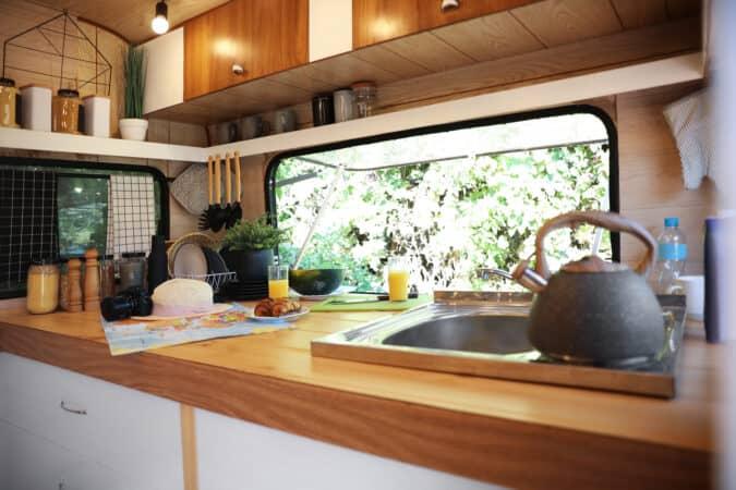 RV Kitchen accessories in an RV kitchen