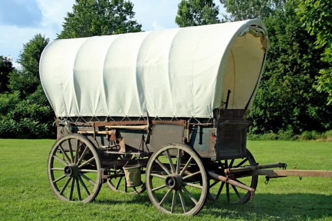 The covered wagon was a mainstay of the Westward Expansion