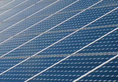 Solar panels on camper