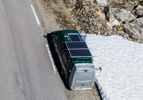 Solar panels on an RV