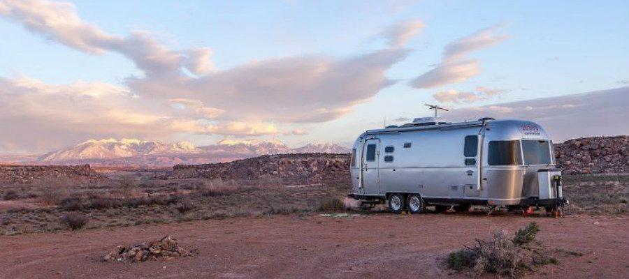 Travel Trailer in the Desert
