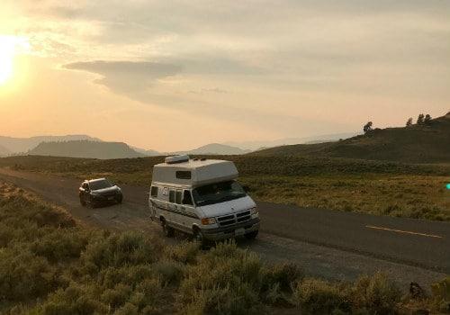 White van beside road