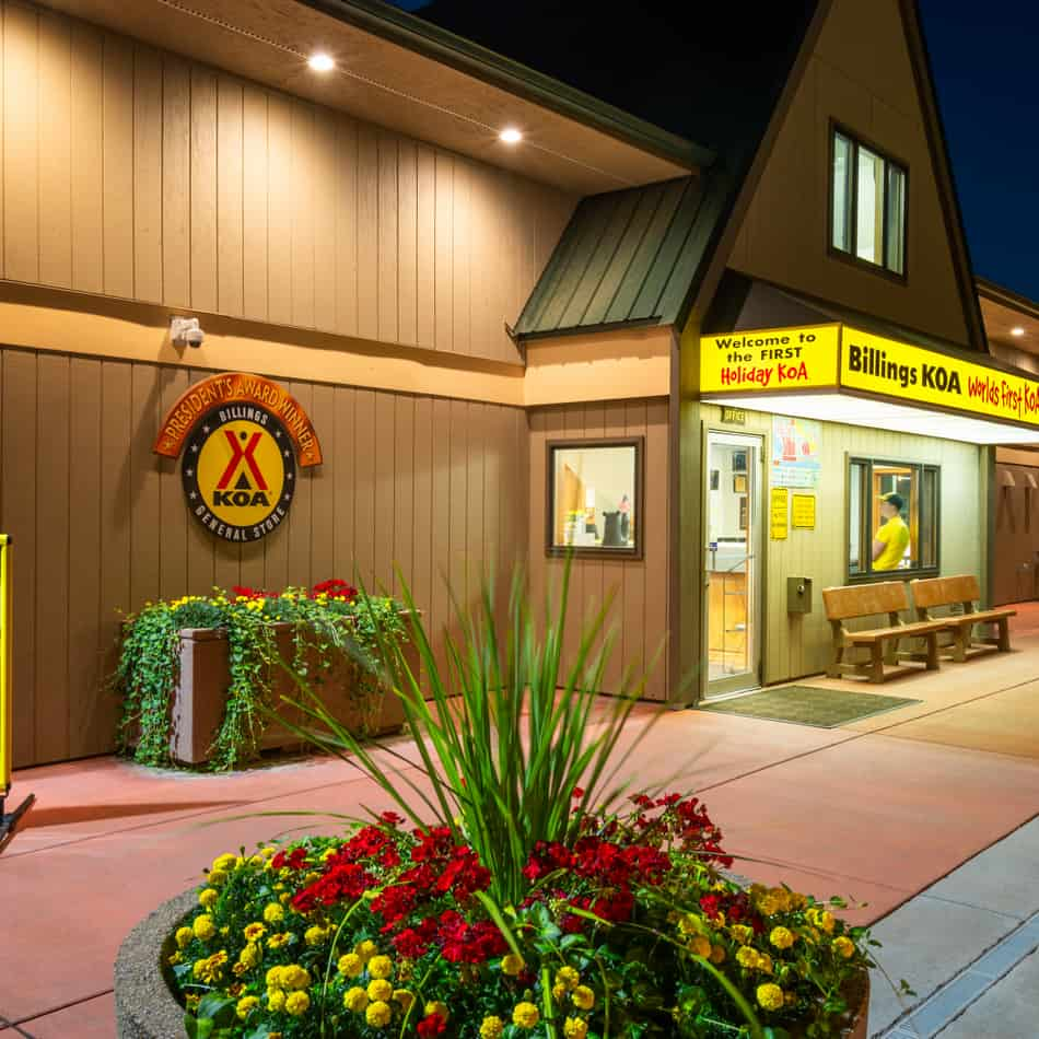 frontage of the world's first KOA in Billings, MT